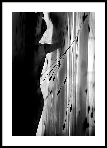 Curtain Silhouette Poster in the group Prints / Black & white at Desenio AB (12292)