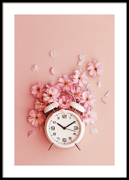 Flower O'clock Poster in the group Prints / Photographs at Desenio AB (12329)