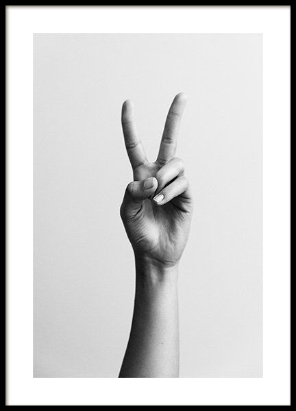 Peace Sign Poster in the group Prints / Photographs at Desenio AB (12334)