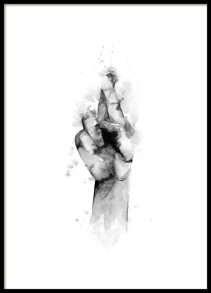 Cross My Fingers Poster in the group Prints / Art prints at Desenio AB (12339)