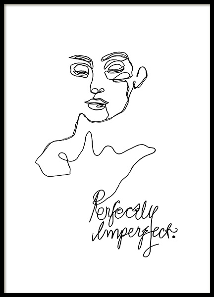 Imperfect Line Art Poster in the group Prints / Illustrations at Desenio AB (12359)