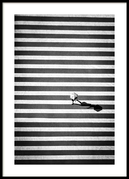 Zebra Crossing Poster in the group Prints / Black & white at Desenio AB (12383)