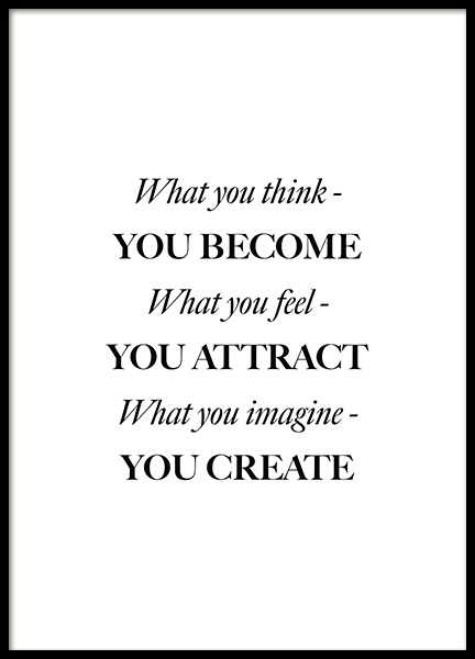 What You Think Poster in the group Prints / Text posters at Desenio AB (12394)