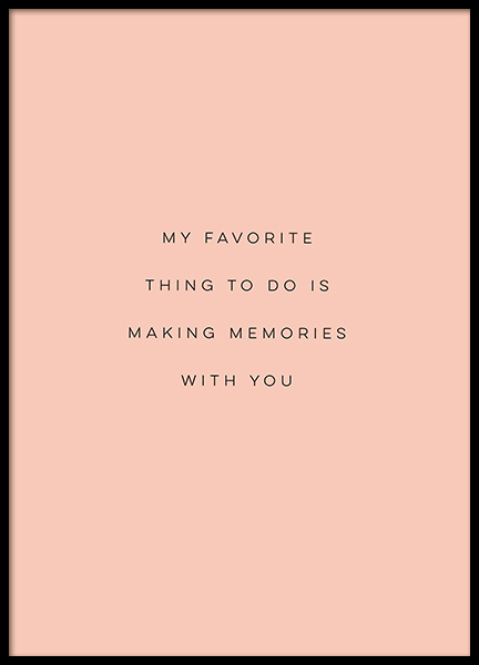 Making Memories Poster in the group Prints / Text posters at Desenio AB (12406)