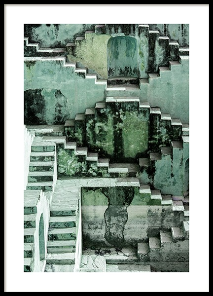 Stepwell Poster in the group Prints / Photographs / Architecture at Desenio AB (12408)