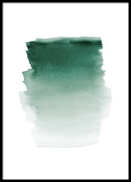 Green Watercolor Poster in the group Prints / Art prints / Abstract art at Desenio AB (12410)