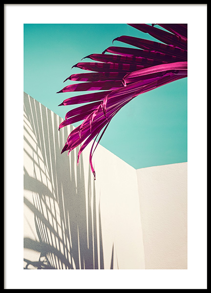 Purple Palm Leaf Poster in the group Prints / Botanical at Desenio AB (12416)