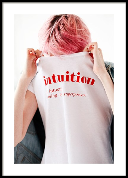 Intuition Shirt Poster in the group Prints / Photographs at Desenio AB (12440)