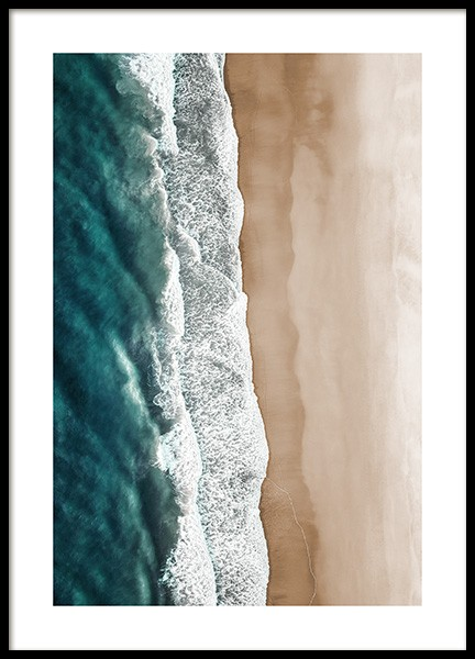 Rushing Sea Waves Poster in the group Prints / Nature prints / Tropical at Desenio AB (12459)