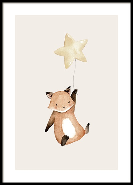 Flying Fox Poster in the group Prints / Kids wall art at Desenio AB (12465)