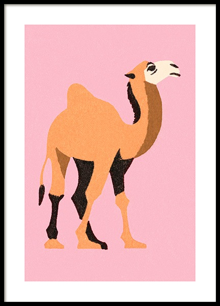 Vintage Dromedary Poster in the group Prints / Kids at Desenio AB (12467)