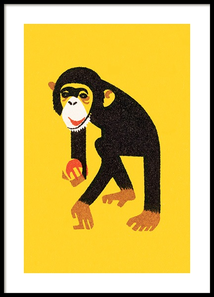 Vintage Monkey Poster in the group Prints / Kids at Desenio AB (12468)