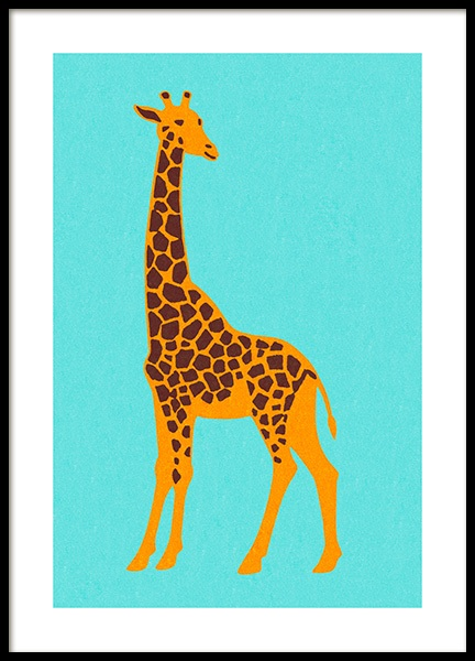 Vintage Giraffe Poster in the group Prints / Animals / Wild animals at Desenio AB (12469)