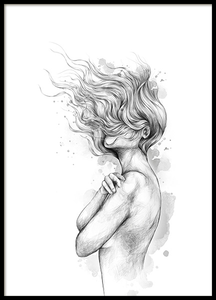 Girl In The Wind Poster in the group Prints / Art prints at Desenio AB (12492)