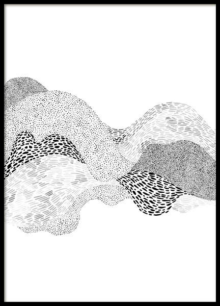 Dotted Waves No2 Poster in the group Prints / Art prints at Desenio AB (12498)