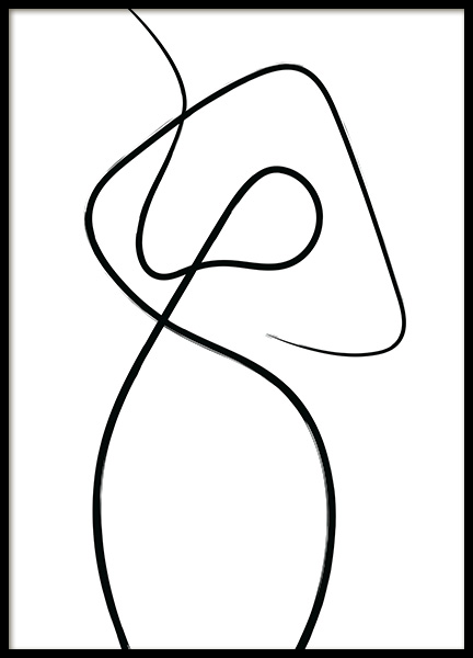 Line Impression No1 Poster in the group Prints / Sizes / 70x100cm | 28x39 at Desenio AB (12503)
