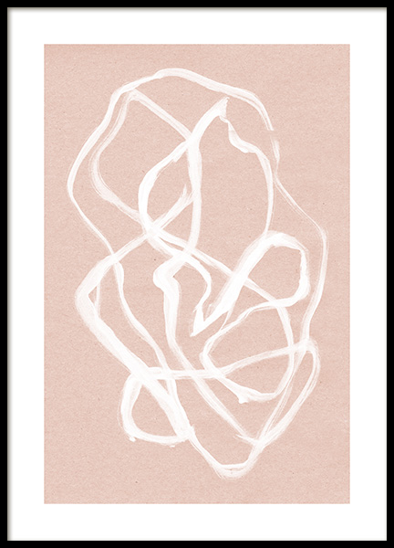 White Ink Swirls Poster in the group Prints / Art prints at Desenio AB (12510)