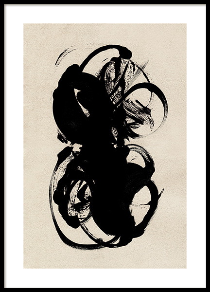 Black Paint Poster in the group Prints / Art prints / Abstract art at Desenio AB (12514)