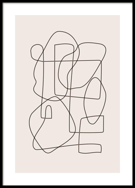 Abstract Lines Poster in the group Prints / Art prints / Abstract art at Desenio AB (12520)