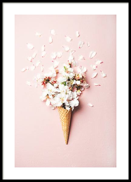Flower Cone Pink Poster in the group Prints / Floral at Desenio AB (12531)