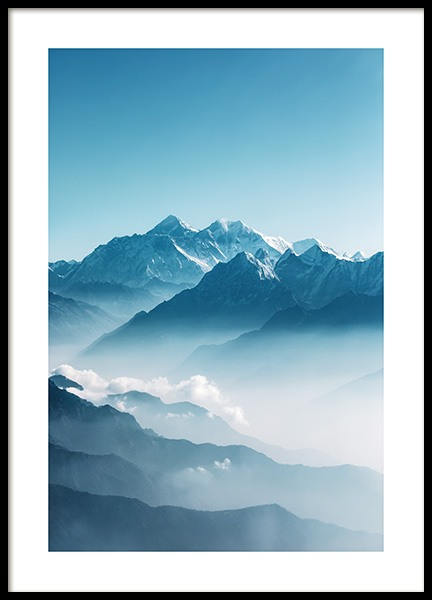 View of Mount Everest Poster in the group Prints / Nature at Desenio AB (12535)