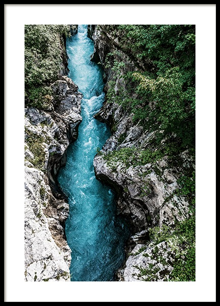 The Soca River Poster in the group Prints / Nature at Desenio AB (12536)