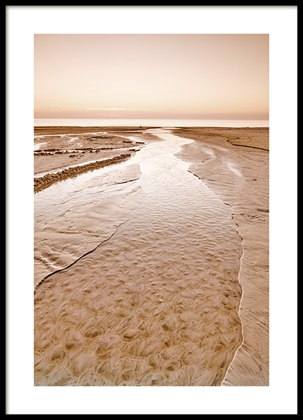 Beige Beach Poster in the group Prints / Nature prints at Desenio AB (12542)