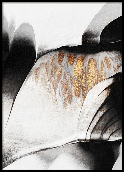 Black And Gold Veins No2 Poster in the group Prints / Art prints at Desenio AB (12550)