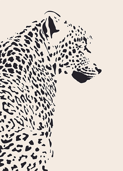 Leopard Illustration Poster in the group Prints / Art prints at Desenio AB (12572)