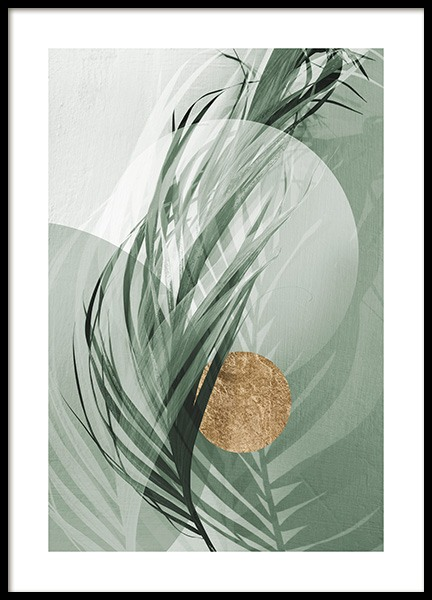 Graphic Palm Leaf No1 Poster in the group Prints / Photographs at Desenio AB (12587)