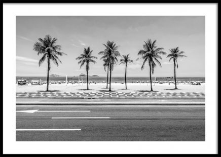 Palms on Ipanema Poster in the group Prints / Black & white at Desenio AB (12596)