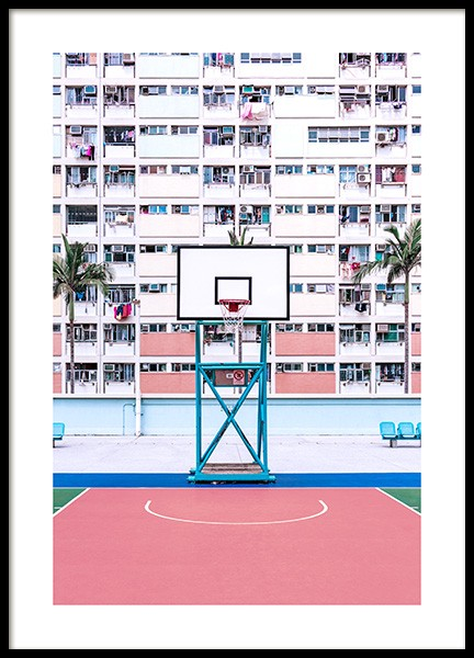 Basketball Hoop Poster in the group Prints / Photographs at Desenio AB (12604)