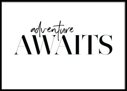 Adventure Awaits Poster in the group Prints / Text posters at Desenio AB (12605)