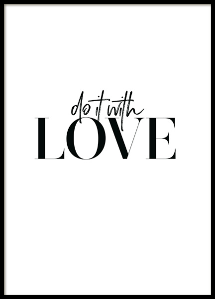 Do it with Love Poster in the group Prints / Text posters at Desenio AB (12607)