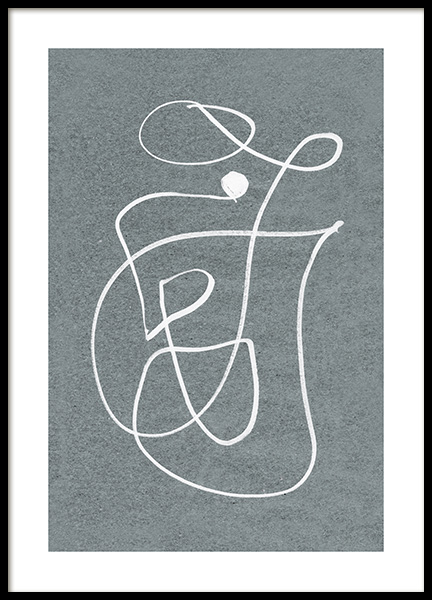 Fine Curvy Lines Poster in the group Prints / Art prints at Desenio AB (12612)