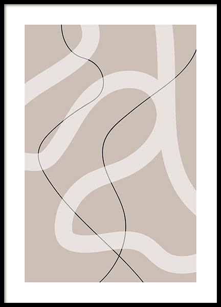 Thin and Bold Lines Poster in the group Prints / Art prints at Desenio AB (12615)