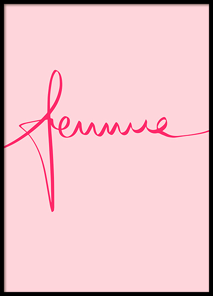 Femme Poster in the group Prints / Typography & quotes at Desenio AB (12617)