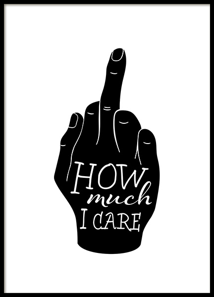 How Much I Care Poster in the group Prints / Graphical at Desenio AB (12625)