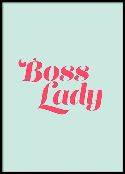 Boss Lady Mint Poster in the group Prints / Typography & quotes at Desenio AB (12633)
