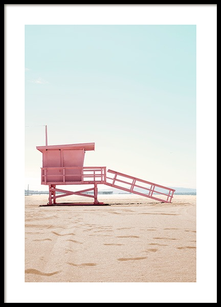 Lifeguard Hut Poster in the group Prints / Nature at Desenio AB (12635)