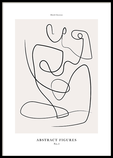 Abstract Figures No1 Poster in the group Prints / Art prints at Desenio AB (12694)