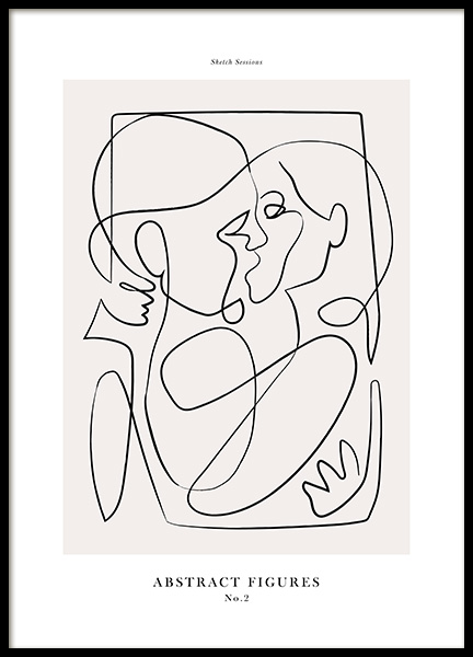 Abstract Figures No2 Poster in the group Prints / Art prints at Desenio AB (12695)