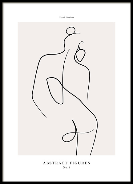 Abstract Figures No3 Poster in the group Prints / Art prints at Desenio AB (12696)
