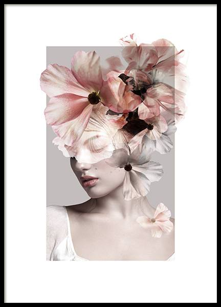Feminine Flowers No1 Poster in the group Prints / Sizes / 50x70cm | 20x28 at Desenio AB (12700)