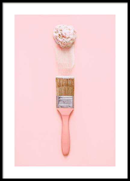 Ice Cream Art Poster in the group Prints / Sizes / 50x70cm | 20x28 at Desenio AB (12709)