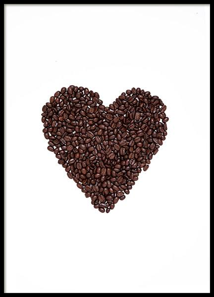 Coffee Heart Poster in the group Prints / Kitchen at Desenio AB (12714)