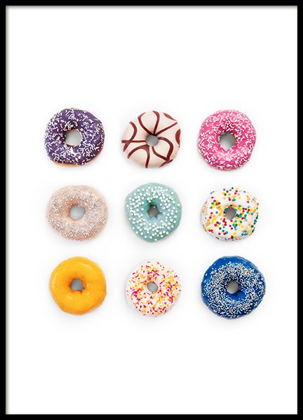 Sweet Donuts Poster in the group Prints / Kitchen at Desenio AB (12716)