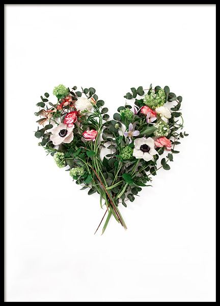 Flower Heart Poster in the group Prints / Sizes / 50x70cm | 20x28 at Desenio AB (12727)