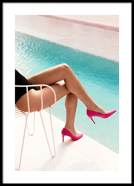 Pink Heels Poster in the group Prints / Photographs at Desenio AB (12753)