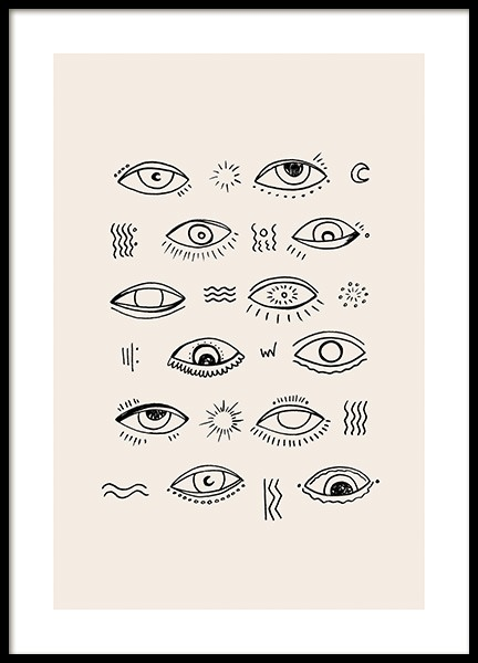 Open Your Eyes Poster in the group Prints / Illustrations at Desenio AB (12785)